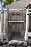 The Door. Is the part of Hawaiian temple, on Big Island royalty free stock images