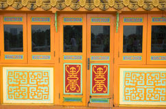 Door. Of a chinese temple stock photo