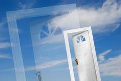 Door (3 of 5). Doors on sky background Stock Images