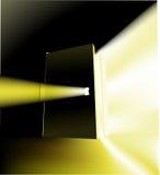 Door. A door opening with something magical behind it, conceptual piece Stock Photos