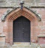 Door. An old door with handles and lock Royalty Free Stock Photo