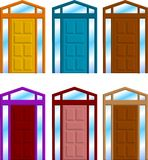 Door. A vector illustration for a group of door frame Stock Image
