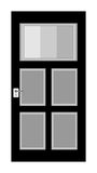 Door. An illustration of black and white door Stock Image