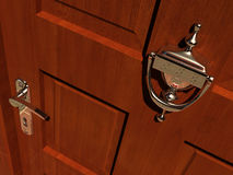Door. Of a house with knocker - rendered in 3d Royalty Free Stock Photo