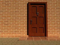Door. The front door of a house - rendered in 3d Stock Photo