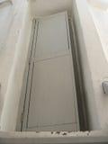 Door. Old wooden door half open royalty free stock image