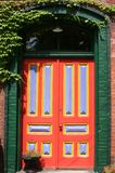Door. Multi-colored and cheerful looking doorway Royalty Free Stock Images