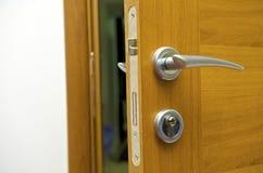 Door. Wooden door with the lock Royalty Free Stock Photo
