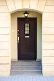 Door. A photo of classic door - with a lamp and stairs Stock Photo