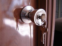 Door. With lock and key royalty free stock images