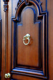 Door. The door with golden knocker Royalty Free Stock Image
