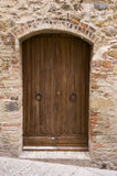 Door. Old double wooden door. Italian style. Tuscany Stock Photography