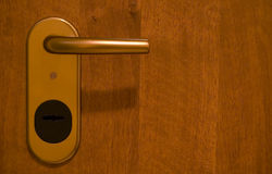 Door. Knob and wood material Royalty Free Stock Photos