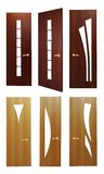 The isolated wooden doors stock photo