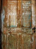 DOOR. With lot of charcol writing Royalty Free Stock Photo