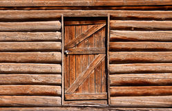 Door of an abandoned home Stock Photo