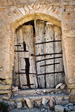 Door of an abandoned house Royalty Free Stock Images
