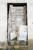 Door abandoned Royalty Free Stock Images