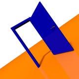 Door abstract 3d Stock Images