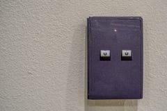 Door access control keypad. Door access keypad console on grey wall Royalty Free Stock Photos