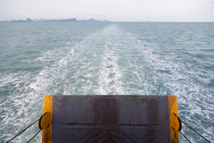Door aft. Aft door. The engine of the boat Sailing at sea Royalty Free Stock Image