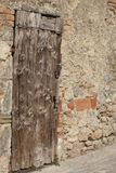 Door of the Ages in Monteriggioni, Italy Stock Photography