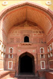 The door of Agra fort. This is within the agra fort a door, it is a typical style of Islam, with red stone built, designers can imagination make him into a work Royalty Free Stock Photography