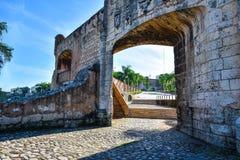Door of Alcazar de Colon - Santo Domingo, Dominican Republic. Alcazar of Colon - Santo Domingo, Dominican Republic Royalty Free Stock Photo