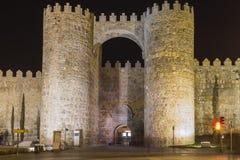 Door of Alcazar wall. Door of Alcazar of the medieval walls of Avila, Castilla y Leon, Spain, Europe Stock Photos