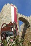 Door of Alcazar wall. Door of Alcazar of the medieval walls of Avila, Castilla y Leon, Spain, Europe Stock Image