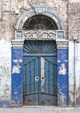 Door in aleppo syria. Decorated door in aleppo syria Stock Photo