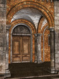Door in an ancient building Royalty Free Stock Image