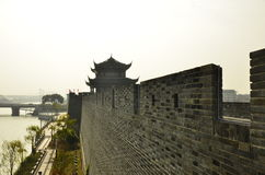 The door of ancient city wall in Suzhou,China. Royalty Free Stock Photo
