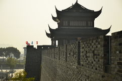 The door of ancient city wall in Suzhou,China. Royalty Free Stock Images
