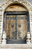 Door of the ancient temple. Royalty Free Stock Photography
