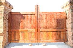 The door of ancient temple in Lumphun city . Royalty Free Stock Photography