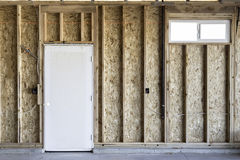 Door And Window In New Construction Royalty Free Stock Images