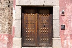 Door in Antigua, Guatemala Royalty Free Stock Photo