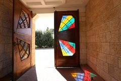Door - aperture in the wall. To enter and exit the premises royalty free stock photo