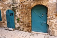 Door - aperture in the wall. To enter and exit the premises royalty free stock photos