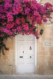 Door architecture detail in mdina old town of rabat malta. Traditional home door architecture detail in mdina old town of rabat malta Stock Photo