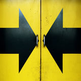 Door and arrows Royalty Free Stock Image