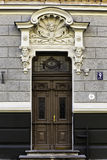 Door of Art Nouveau building, Riga Latv Royalty Free Stock Image