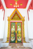 The door of asia temple thailand Royalty Free Stock Images