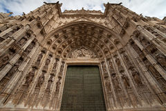 Door of Assumption of the Seville Cathedral Stock Image