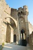 Door of Aude. Battlements of the door of Aude of Carcassone's Citadel Royalty Free Stock Images