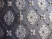 Door background. Part of an old decorated door with rhombus royalty free stock images