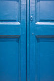 Door background in blue Royalty Free Stock Photos