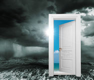 Door from bad conditions Stock Images