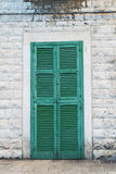 A door in Bari. A green door in Bari Royalty Free Stock Images